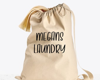 Personalized Laundry Bag for Kids, College Laundry Bags, Dirty Clothes Storage, Heavy Duty Canvas Laundry Bag with Shoulder Strap