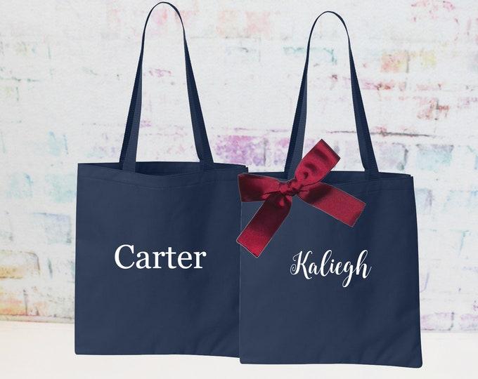 Small Tote Bag, Petal Patrol Gift Bag, Flower Girl Tote, Personalized Jr Bridesmaid Gift, Personalized Small Tote Bag SMTOT2
