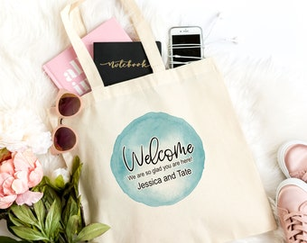 Welcome Bags Wedding Welcome Bags Wedding Bag Personalized Wedding Welcome Bags Out of Town Welcome Bags,  Light Weight Cotton Canvas Tote