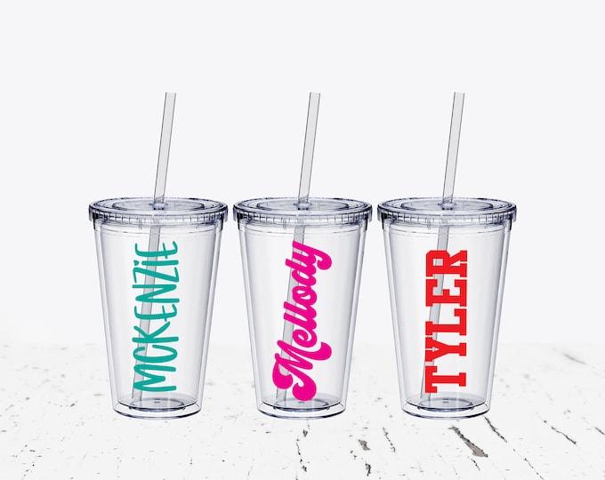 Kids Tumbler with straw, Flower Girl Gifts Tumbler, Jr Bridesmaid Gift, Wedding Tumbler Set, Personalized Tumbler, 12 oz Tumbler