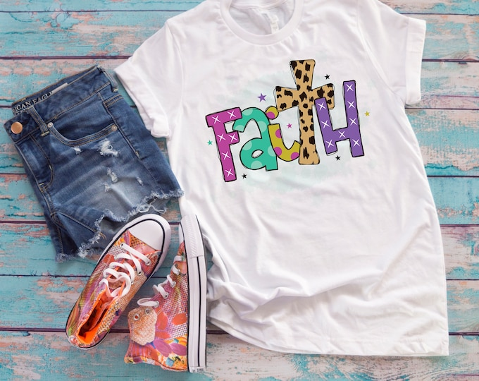 faith tshirt, religious tshirt, inspirational tshirt, christian tee for teen, faith saying tee shirt