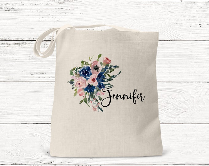 Bridesmaid Gift- Personalized Bridesmaid Tote - Wedding Party Gift - Maid of Honor-Personalized Bridesmaid Gift Tote Bag DS3063