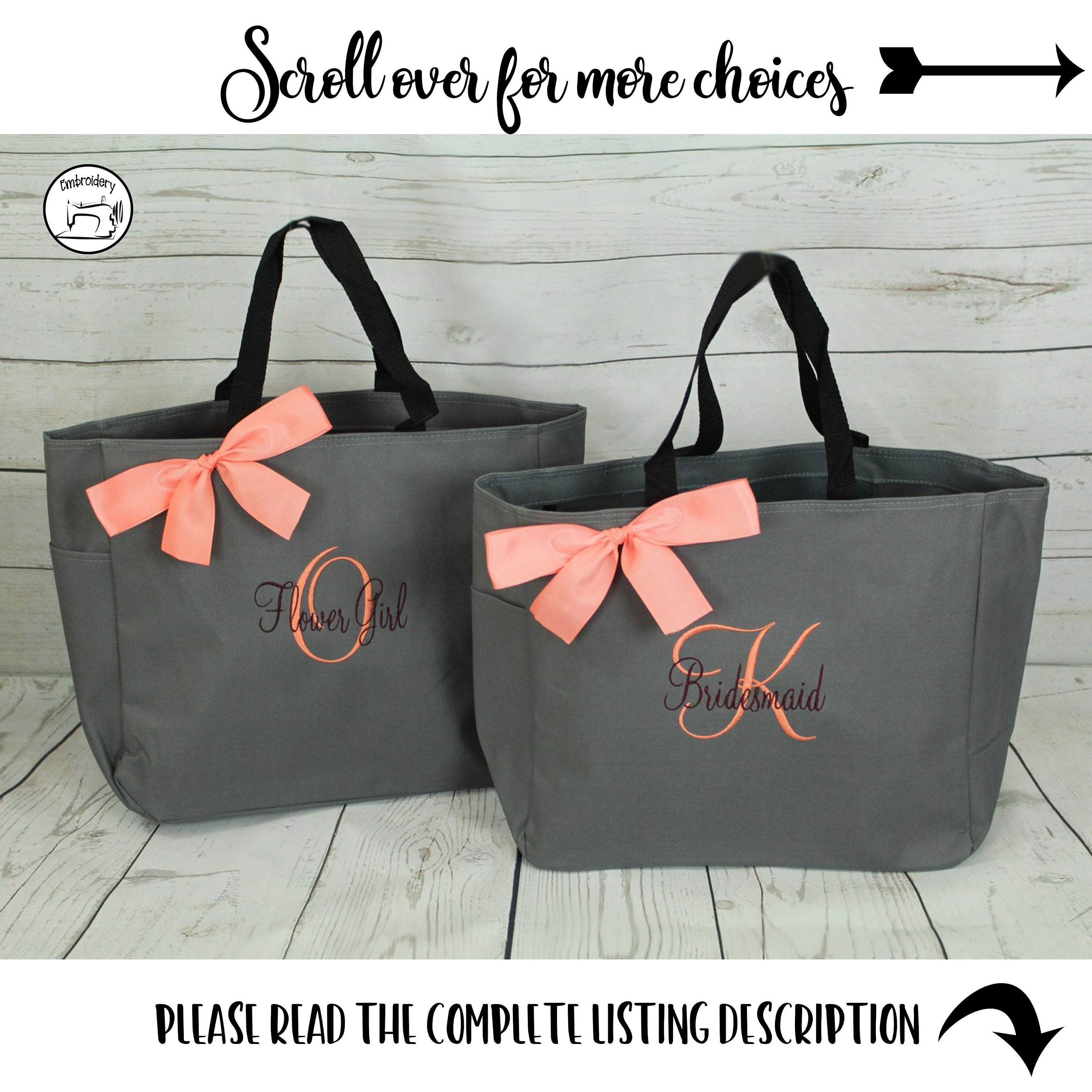 Personalized Bridesmaid Gift Tote Bag Personalized Tote Bridesmaids Gift Monogrammed Tote Set Of 8 Set Of 6 Set Of 10 Ess1