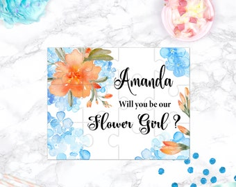 Flower Girl Proposal Will You Be My Flower Girl Puzzle Flower Girl Proposal Cute Gift Keepsake Memento Personalized Girl Gift design 102