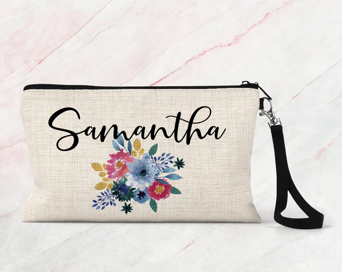 personalized makeup bag, bridal party gift, Bachelorette Party Gift, Cosmetic bag COS09