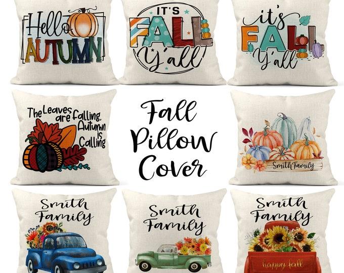 Fall Pillow Cover, Pumpkin Throw Pillow, Farmhouse Decor, Autumn Decor, Farmhouse Pillow,Throw Pillow, Thanksgiving Decor, Autumn Harvest