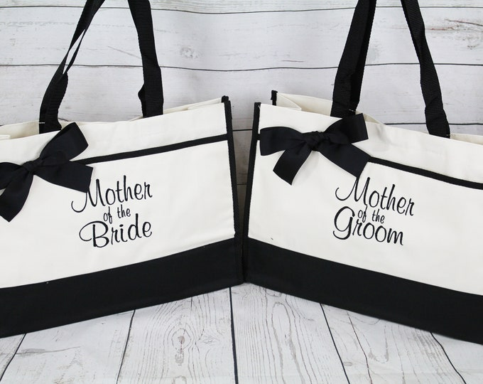 Mother of The Bride Gift, Mother of the Groom Tote Bag, Wedding Party Gift Ideas. Mother Gift CT1