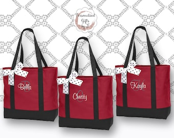 Personalized Bridesmaid Tote Bags Monogrammed Tote, Bridesmaids Gift, Personalized Tote, Wedding Tote Bag, Maid of Honor Gift