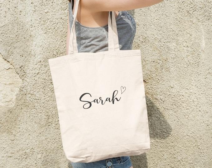 Personalized Bridesmaid Tote Bags- Bridesmaid Gift- Personalized Bridesmaid Tote- Wedding Party Gift- Name Tote-