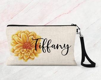 Custom Cosmetic Bag, Personalized makeup bag, Bridesmaid gift