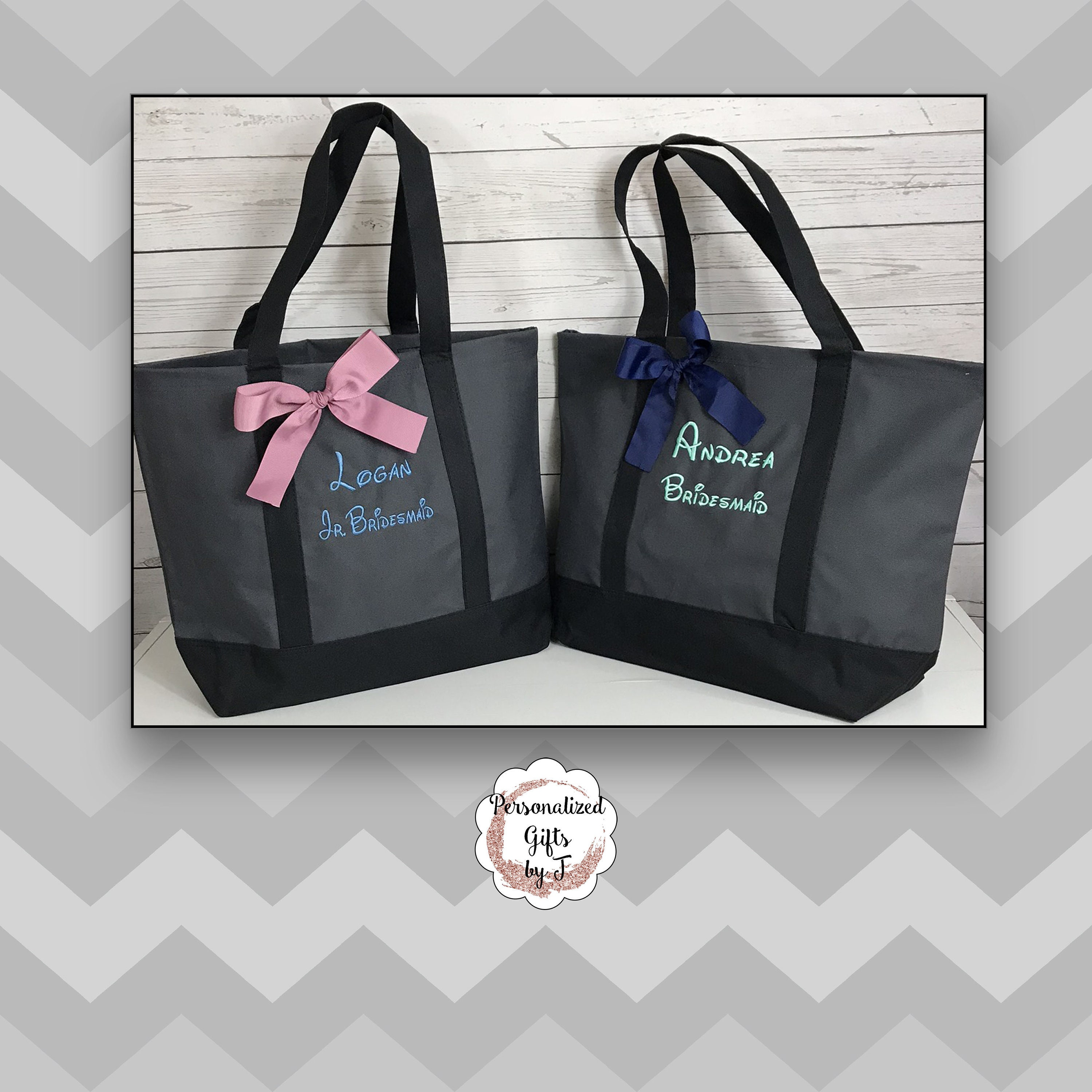 Monogrammed Tote Personalized Bridesmaid Gift Tote Bag Wedding