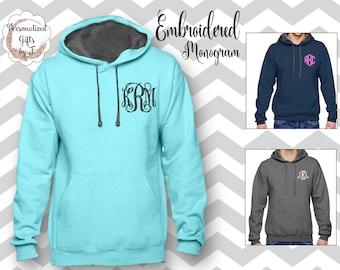 Monogrammed Sweatshirt, Monogram Hoody, Personalized Hoodie, Monogrammed gift for Her, Gift for Wife, Girlfriend Gift, Sister Gift Hoody
