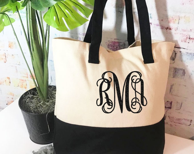 Monogrammed tote bag, Personalized gift tote bag, Gift for teacher, perfect gift for sister