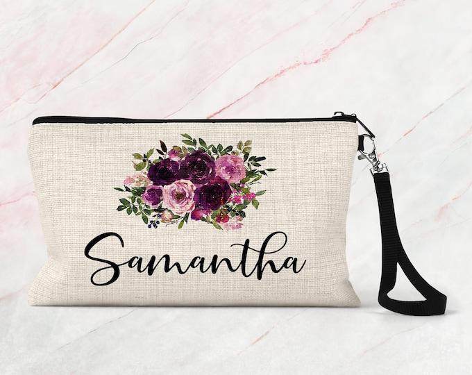 Makeup bag, Makeup Bag Personalized, Bridesmaid Makeup bag Gift COS18