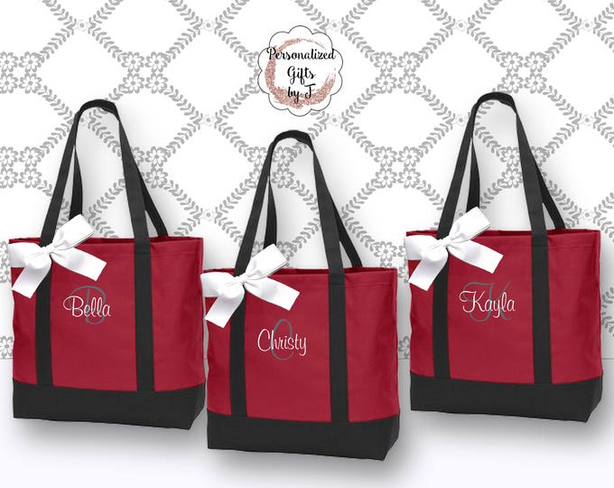 Bridesmaid Tote, Personalized Bridesmaid Gift ,Tote Bag, Personalized Tote, Bridesmaids Gift, Monogrammed Tote (NS2T)