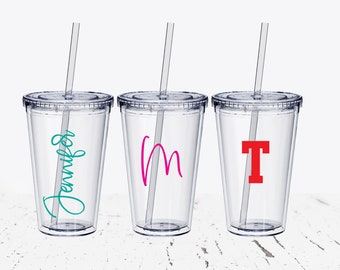 Personalized Tumbler, Bridesmaid Glass, Custom Tumbler, Bridesmaid Gift, Bachelorette Party, Monogrammed Tumbler