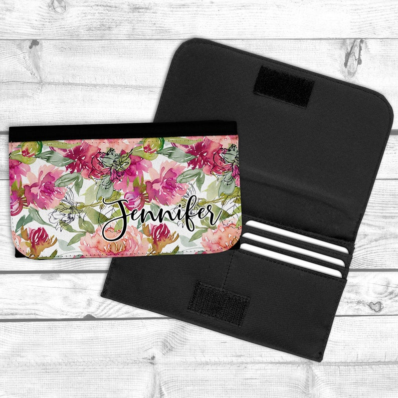 Floral Personalized Wallet Bridesmaid Gift Sister Gift image 0
