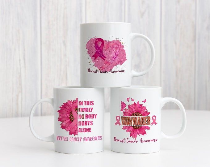 Breast Cancer Awareness Mug, Personalized Gift,