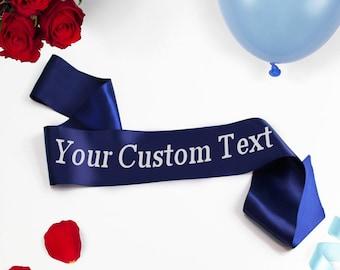 Custom Text Party Sash, Custom Sash, Pageant Sash