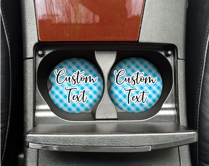 Personalized Car Coaster- Set of 2