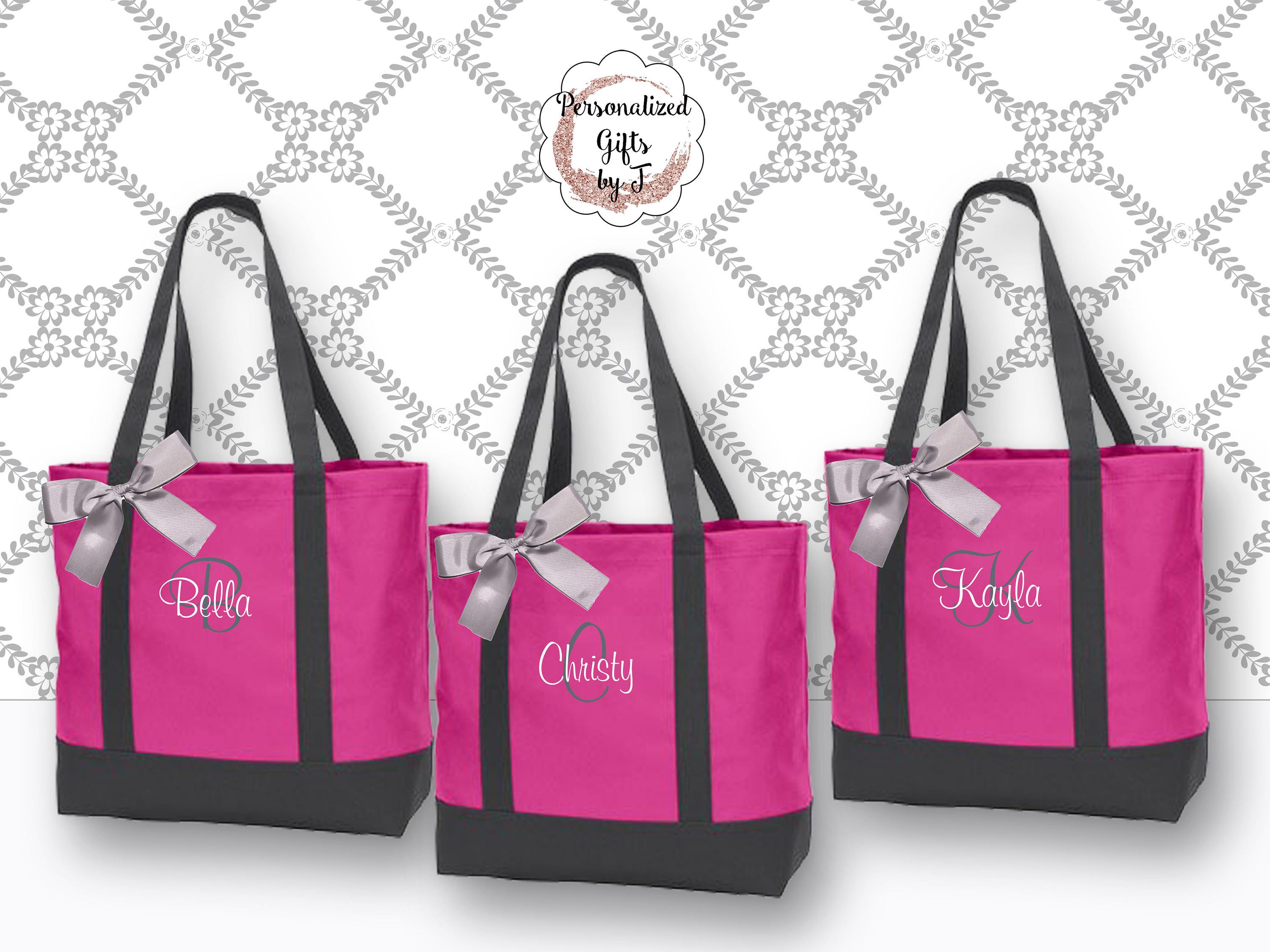 Personalized Bridesmaid Tote Bags Monogrammed Tote, Bridesmaids Gift ...