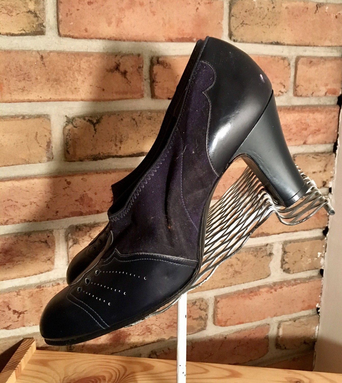 Men's 1920s Style Ties, Neck Ties & Bowties Unworn 1920s Leather  Faille Flapper High Heel ShoesFrom Boardwalk Empire Tv Show Size 7 Aaa $24.00 AT vintagedancer.com