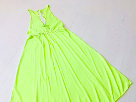 1960's Lime Green Nightie or Dress