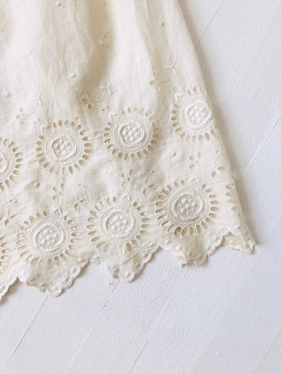 Antique White Eyelet Cotton Dress - image 4
