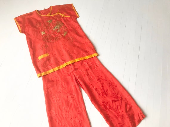 1930s / 1940s Japanese Jacquard Rayon Pajama Set