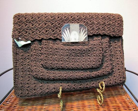 Unusual Vintage Early 40's Brown CORDE, ART DECO … - image 1