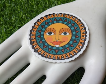 3 Inch Die Cut Festive Sun Sticker