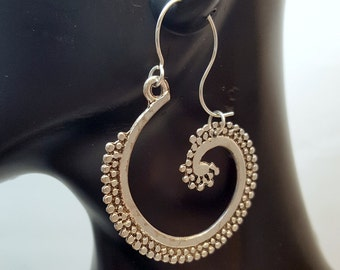 Seaspray Swirl Earrings, Boho Seaspray Earrings, Bohemian Seaspray Earrings, Eclectic Style, Gypsy Seaspray Earrings