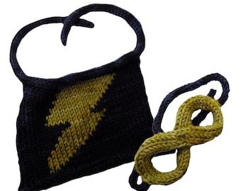 Superhero Cape And Mask For Your Amazing S.Q.U.I.R.R.E.L. Knitting pattern PDF