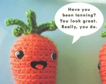 Carrot Conversation - Blank greeting card - note card