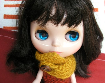 Wool Cowl Sweater Dress for Blythe