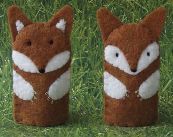 Fox Finger Puppet - select a style - Woodland Fox Puppet - Felt Fox Finger Puppet - Fox Animal Puppet
