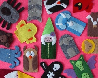 Felt Finger Puppets - Stitched to Order