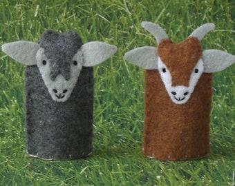 Goat Finger Puppet - Farm Animal Finger Puppet - Felt Animal Puppet - Brown Goat Puppet - Farm Animal Toy Finger Puppet - Billy Goat Puppet