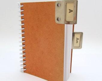 Index Card Notebook - Metal Index Tabs - Industrial Journal - Vintage Library - Midcentury Journal - Mini Journal - Spiral Notebook