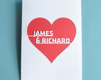 Gay Wedding Card For Couple Personalized for You