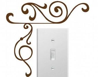 Elegant Corner Wall Decals (Set of 2) SMALL, Home Decor, Office Decor, Elegant Design, Professional Decal,