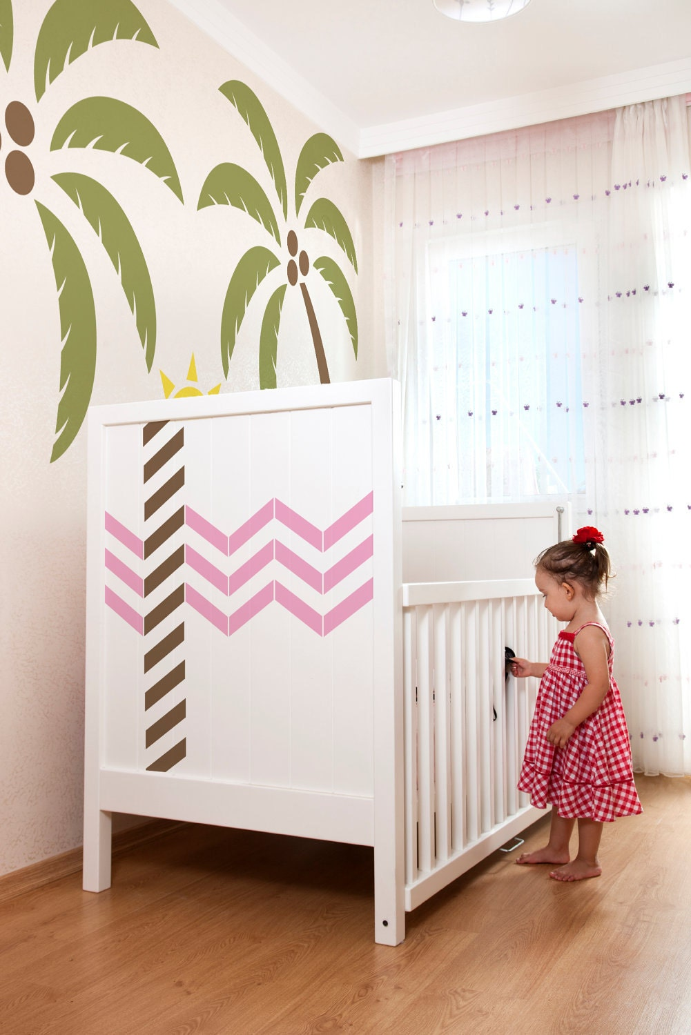 Chevron Vinyl Wall Decals Size Small Artistic Flair Office