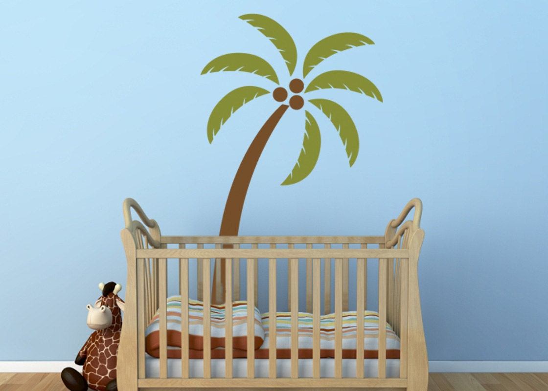 Palm Tree Vinyl Decal Size LARGE Home Decor Office Decor