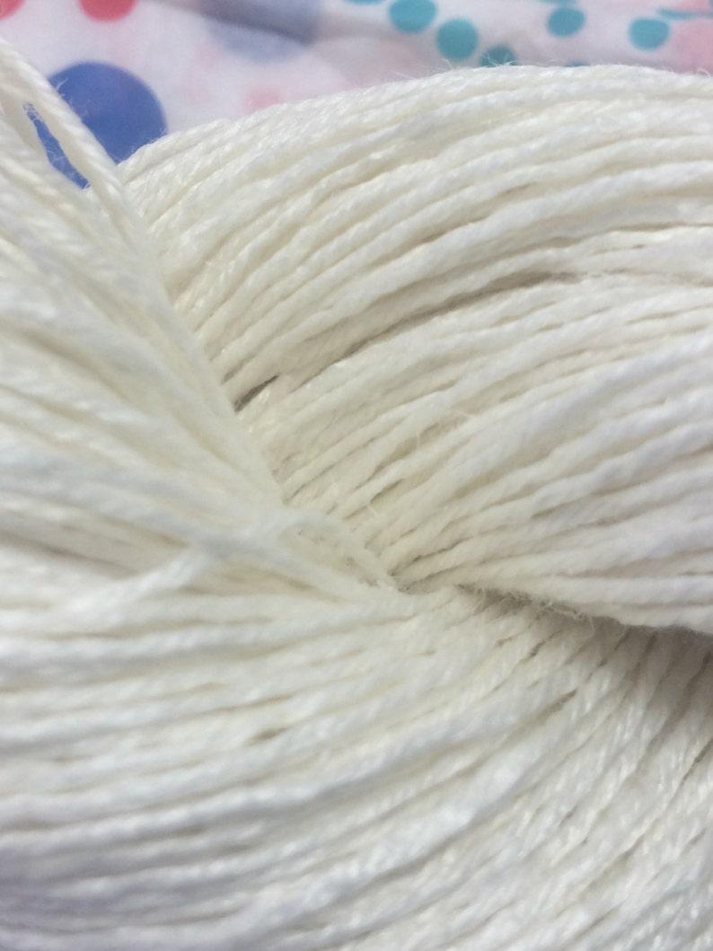 Fingering Weight Ivory Linen Undyed Yarn Base FINGERING Linen Undyed Yarn