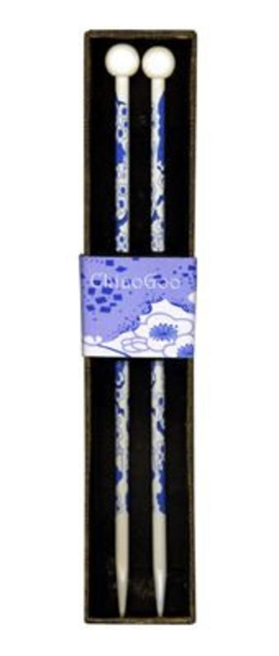 Aiguilles à tricoter fleur bleu ChiaoGoo, peint des aiguilles à ...