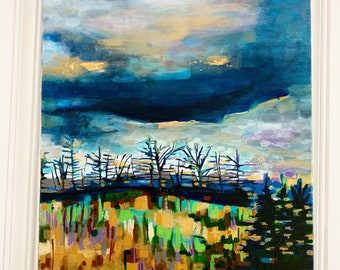 Sky with Gold Giclee