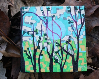 Neon Lining original painting by Katie Ward Knutson