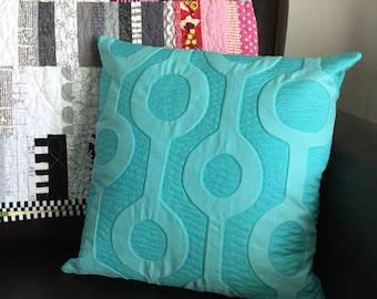 Modern Appliqué Quilted Pillow