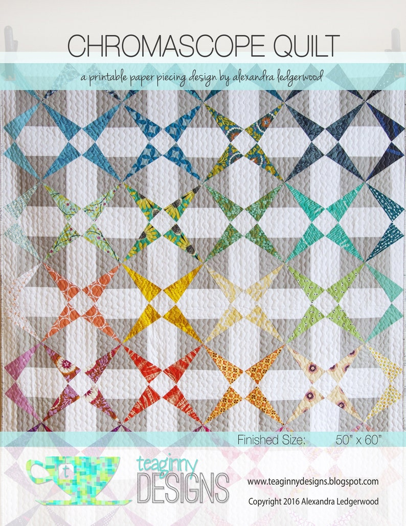 Chromascope Quilt Pattern image 0