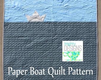 Paper Boat Quilt Pattern - instant pdf download
